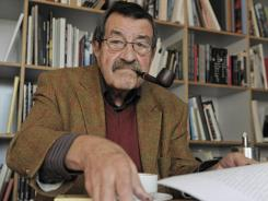 This October 2009 file photo shows German writer and Nobel Prize laureate for literature Guenter Grass, during an interview with journalists of the Associated Press in the library of Steidl publishers in Goettingen, Germany.