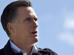 Mitt Romney speaks April 5 in Tunkhannock, Pa.