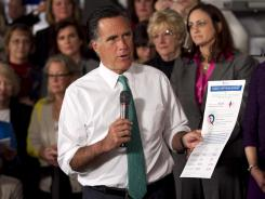 Mitt Romney speaks in Hartford, Conn., on Wednesday.