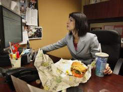As general sales manager for Clear Channel Communications, Mary George Meiners usually just buys a sandwich across the street from her office in Louisville, Ky., and eats it at her desk, as she did on Feb. 14, 2012.