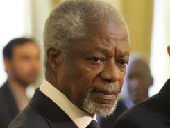 "Envoy Kofi Annan said the situation in Syria should be ""much improved"" if both sides in the conflict respect a peace plan he drew up."