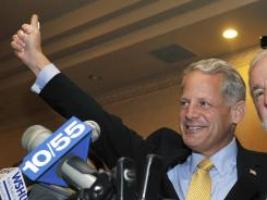 Steve Israel waves to supporters on Nov. 2, 2010.