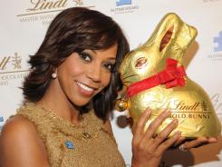 Holly Robinson Peete joined Lindt Chocolate to Launch the 2012 Lindt Gold Bunny Celebrity Auction where 100% of the auction proceeds will be donated to Autism Speaks.