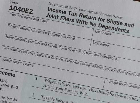 1040ez form irs: