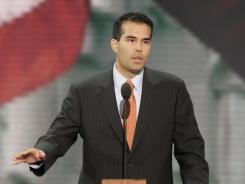 George P. Bush addresses the 2004 Republican National Convention at Madison Square Garden in New York.