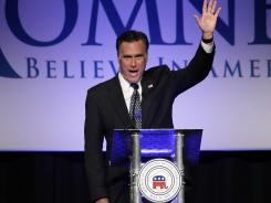 Mitt Romney speaks in Lancaster, Pa., on Tuesday.