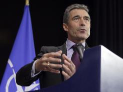 NATO Secretary-General Anders Fogh Rasmussen addresses the media Wednesday in Brussels. The U.S. and its NATO allies are readying plans for Afghanistan.
