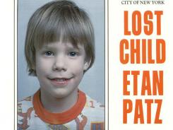 This 1979 photo shows a poster for Etan Patz. His disappearance helped launch a missing children movement that put kids' faces on milk cartons.