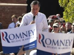 Mitt Romney speaks at a campaign rally Friday in Tempe, Ariz.