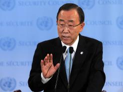 U.N. Secretary General Ban Ki-moon used a letter to the Security Council to advocate for the approval of an expanded mission of observers to Syria.