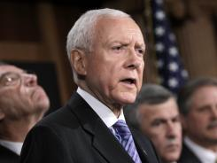 Sen. Orrin Hatch, R-Utah, has been working feverishly to avoid being ousted by a tea party candidate.