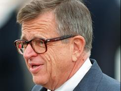 Chuck Colson at Richard Nixon's funeral in 1994.