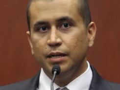 George Zimmerman answers questions during a bond hearing in Sanford, Fla.