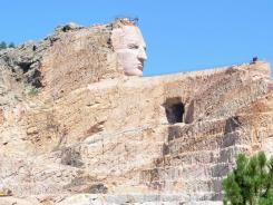 South Dakota's Crazy Horse monument.