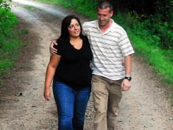 Amanda Gooley, 24 and Andrew Faison, 31, of Zebulon, N.C., will have been engaged five years when they marry in August.