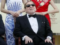 Las Vegas Sands Chairman and CEO Sheldon Adelson and his wife, not pictured, made a $25 million super PAC donation.