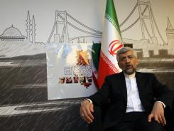 Iran's Chief Nuclear Negotiator Saeed Jalili speaks to The Associated Press after day-long talks with six world powers in Istanbul, Turkey, on April 14.