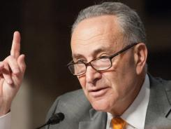 "Sen. Charles Schumer, D-N.Y., says legislation to require Senate candidates to file electronically and directly to the FEC is ""a no-brainer."""