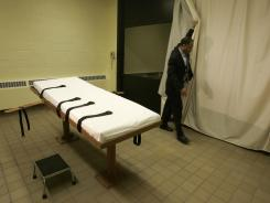 This November 2005 file photo shows a prison death chamber.
