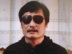 Blind legal activist Chen Guangcheng is seen on a video posted to YouTube Friday by the overseas Chinese news site Boxun.com.