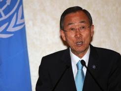 A Syrian state-run newspaper criticized U.N. Secretary General Ban Ki-moon for his stance on the government.