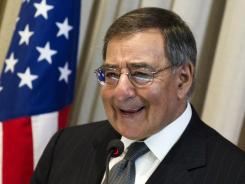 Defense Secretary Leon Panetta speaks at Brazil's Superior War College in Rio de Janeiro.