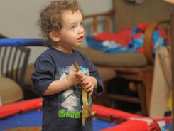 Nicholas May is less than two- years-old, but he's already been diagnosed with autism.