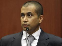 George Zimmerman appears before Circuit Judge Kenneth R. Lester Jr. during a bond hearing in Sanford, Fla., on April 20.