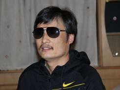 Blind Chinese legal activist Chen Guangcheng is seen in late April at an undisclosed location in Beijing.