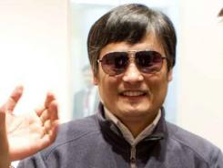 Blind lawyer Chen Guangcheng at the U.S. Embassy in Beijing before leaving for a hospital.