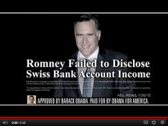 A new Obama ad attacking Mitt Romney.