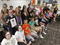 Valley Southwoods Freshman High School has set the new Guinness World Records title for Most Twins in the Same Academic Year at One School. The school, in West Des Moines, Iowa, has 16 sets of twins this year.