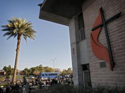 The CrossRoads United Methodist Church in Phoenix is shown in this Feb. 13, 2010, file photo.