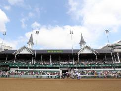 Police said Sunday that they found a body on the backside of the Churchill Downs track in Louisville.