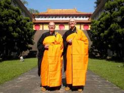 Venerable Thubten Chonyi, left, and Venerable Thubten Jigme, gave up their careers and possessions to become first-generation, home-grown monastics.