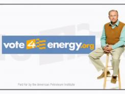 A screengrab from an ad by Vote4Energy, a group sponsored by the American Petroleum Institute.