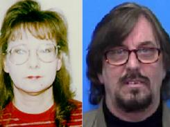 This composite image of undated photos provided by the U.S. Marshal's service shows Janet and Nelson Grant Hallahan.