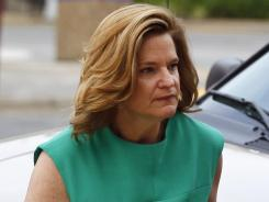 Jennifer Palmieri, a former campaign spokeswoman for John Edwards, arrives at a federal courthouse in Greensboro, N.C., on Wednesday.