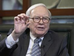 Warren Buffett during an interview in Omaha, Neb., in March.