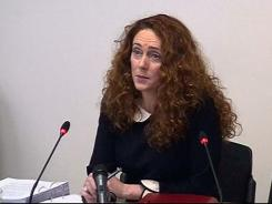 Rebekah Brooks gives evidence to Britain's media ethics inquiry in London May 11.