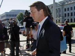 John Edwards arrives at a federal courthouse in Greensboro, N.C., on Friday.