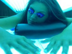 The highest prevalence of indoor tanning was reported among white women aged 18-21 years residing in the Midwest (44 percent), and those aged 22-25 years in the South (36 percent).