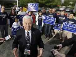 Lugar: The Indiana Republican, who was elected to the Senate in 1976, lost his primary Tuesday.