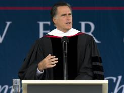 Mitt Romney at Liberty University.