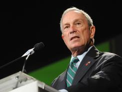 New York Mayor Michael Bloomberg, shown in a May 7 speech, defended the actions of the city police department.