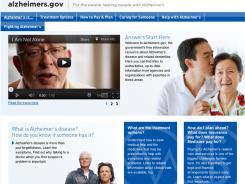 The new alzheimers.gov home page shows the U.S. government website dedicated to the disease.