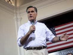 Mitt Romney campaigns in St. Petersburg, Fla., on Wednesday.