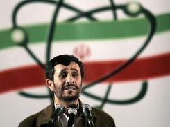 In this 2007 file photo, Iranian President Mahmoud Ahmadinejad speaks at a ceremony in Iran's nuclear enrichment facility in Natanz, which is south of Tehran.