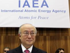 This photo from November 17, 2011, shows International Atomic Energy Agency (IAEA) Director-General Yukiya Amano smiling at the agency headquarters in Vienna.