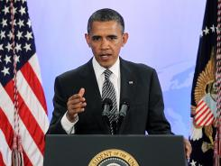 President Obama addresses the Symposium on Global Agriculture and Food Security on Friday in Washington.